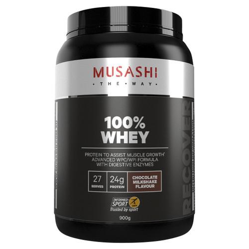 100% Whey Chocolate Milkshake 900g Front of Packaging