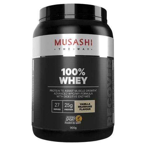 100% Whey Vanilla Milkshake 900g Front of Packaging