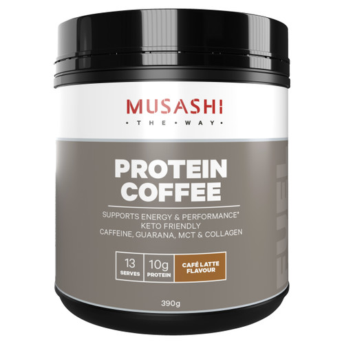 Protein Coffee Powder 390g Front of Packaging