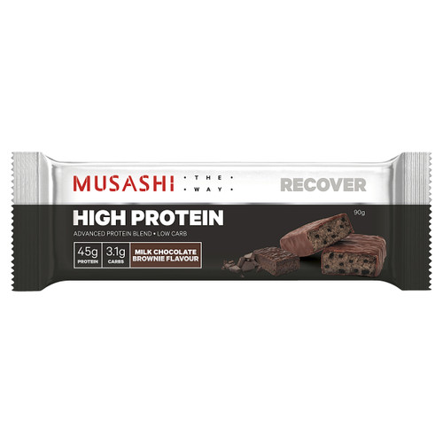 High Protein Bar Milk Chocolate Brownie 90g Front of Packaging