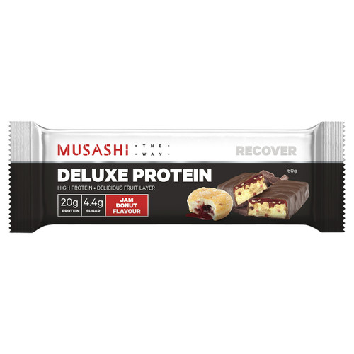 Deluxe Protein Bar Jam Donut 60g Front of Packaging