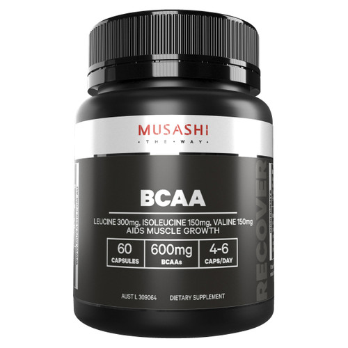 BCAA 60 capsules Front of Packaging