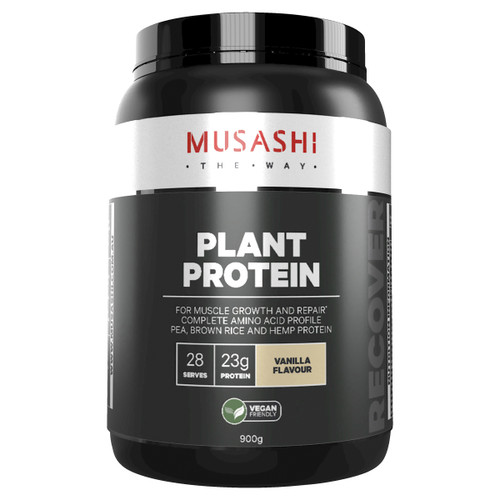Plant Protein Vanilla 900g Front of Packaging