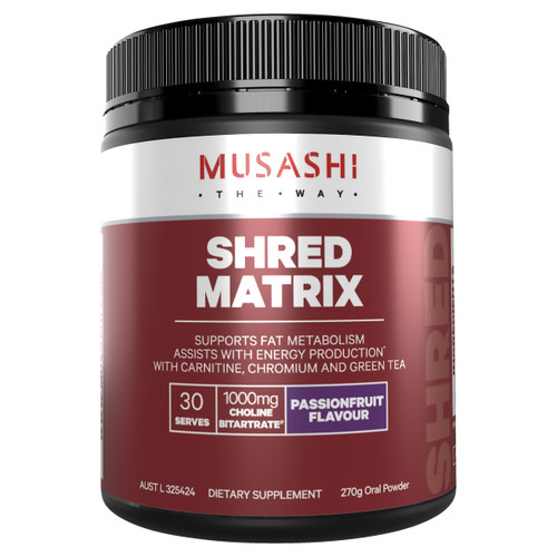 Shred Matrix Passionfruit 270g Front of Packaging