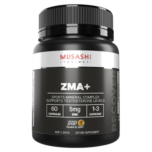 ZMA+ 60 Capules Front of Packaging