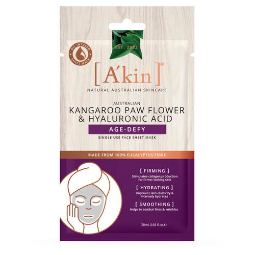A'kin Kangaroo Paw Flower and Hyaluronic Acid Age-Defy Face Mask 1 pack