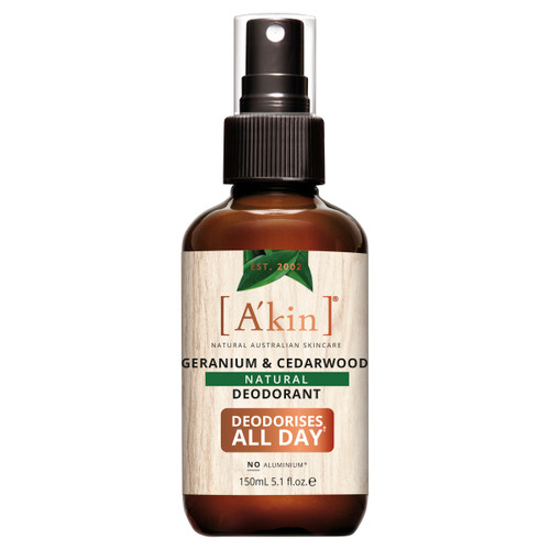 A'kin Geranium & Cedarwood Natural Spray Deodorant 150ml