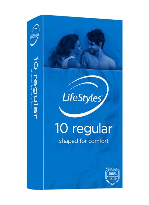Ansell-LifeStyles Regular Condoms 10 Pack