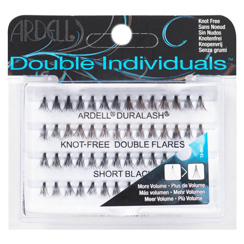 Adell Double Individual Knot-Free Lashes - Short Black