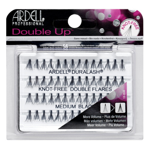 Ardell Double Individual Knot-Free Lashes - Medium Black
