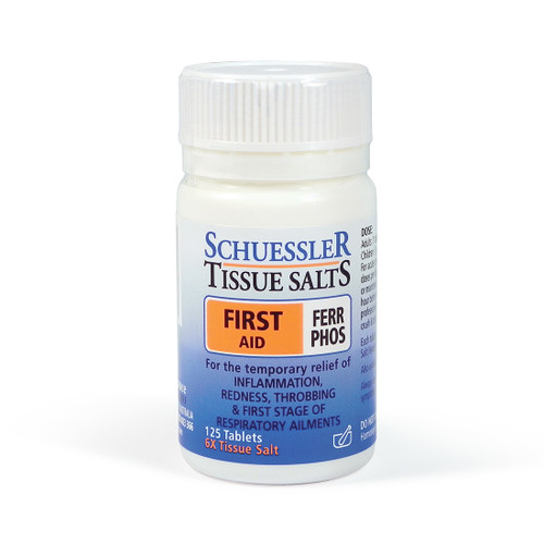 Schuesslers Tissue Salts Ferr Phos First Aid 125 Tablets