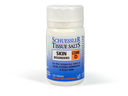 Schuesslers Tissue Salts Skin Disorders Comb D 125 Tablets