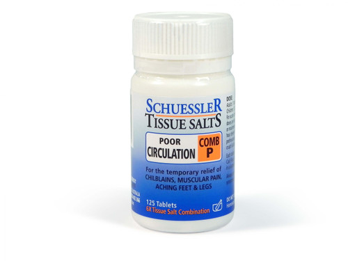 Schuesslers Tissue Salts Poor Circulation Comb P 125 Tablets