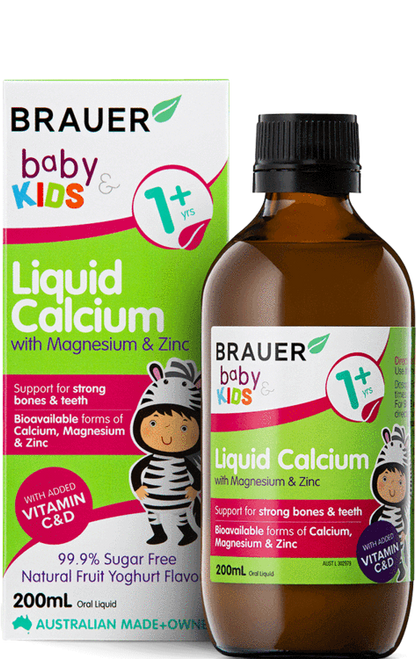 Brauer Baby & Kids Liquid Calcium with Magnesium & Zinc 200ml