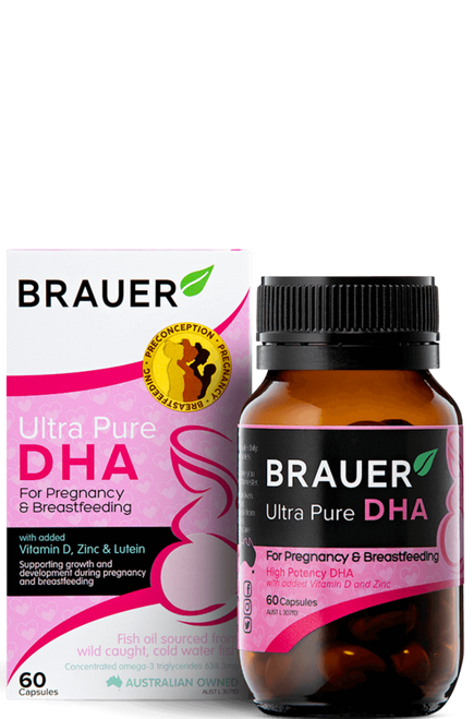 Brauer Ultra Pure DHA for Pregnancy & Breastfeeding 60 Capsules
