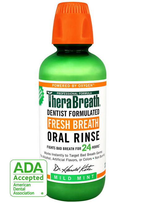 TheraBreath Fresh Breath Wild Mint Oral Rinse 437ml
