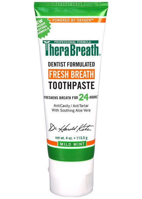 TheraBreath Fresh Breath Mild Mint Toothpaste 113g