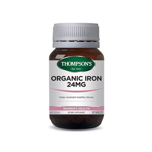 Thompsons Organic Iron 24mg