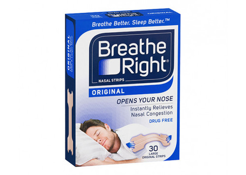 Breathe Right Tan Nasal Strips 30 Pack Large