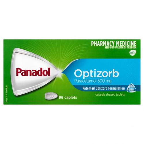 Pandadol with Optizorb Paracetamol 500mg packet of 96 caplets