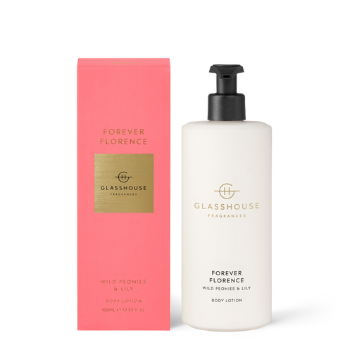 Glasshouse Forever Florence Body Lotion - Wild Peonies & Lily 400ml