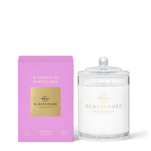 Glasshouse A Tango In Barcelona Soy Candle - Tuberose & Plum 380g