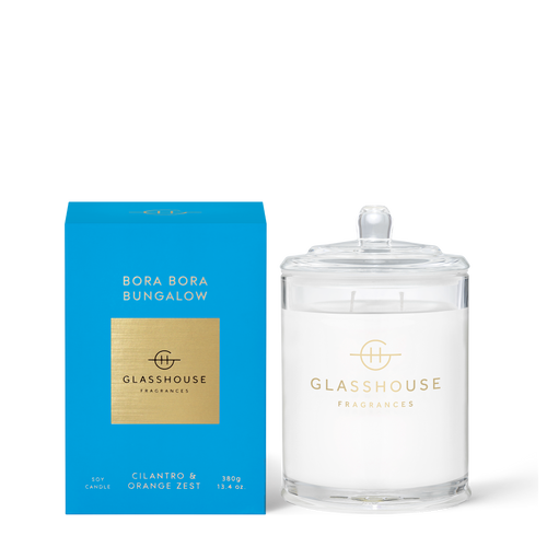 Bora Bora Bungalow Soy Candle Cilantro & Orange Zest 380g