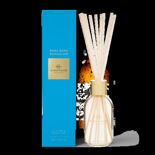Glasshouse Bora Bora Bungalow Fragrance Diffuser Cilanto & Orange Zest 250ml