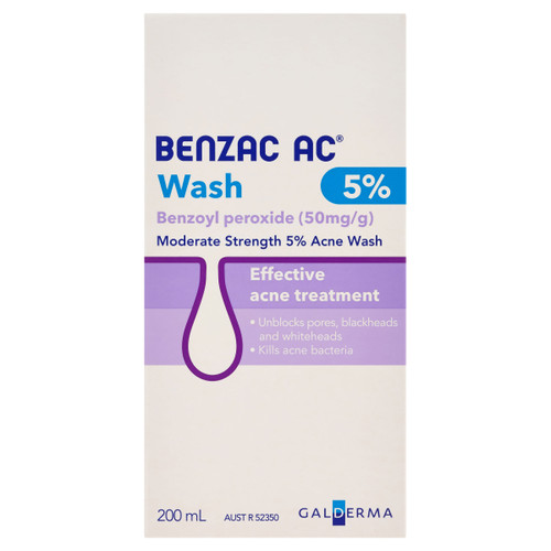 Benzac AC Moderate Strength 5% Acne Wash 200ml
