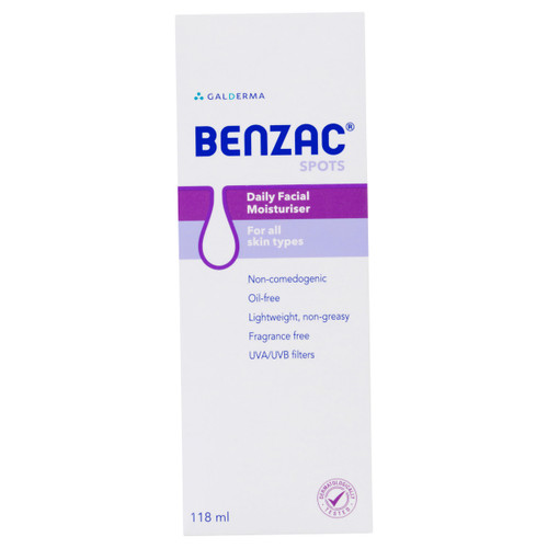Benzac Daily Facial Moisturiser 118ml