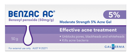 Benzac AC Moderate Strength 5% Acne Gel 60g
