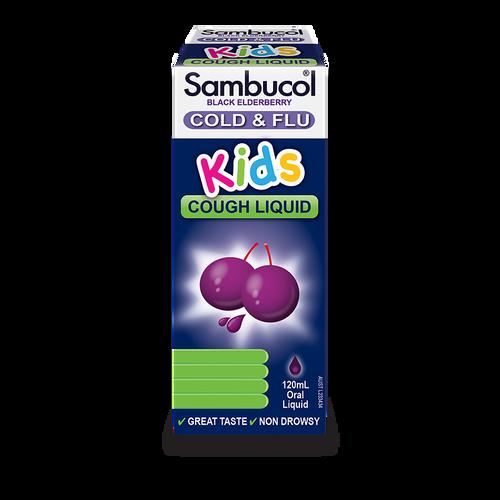 Sambucol Kids Cold and Flu Cough Liquid 120ml