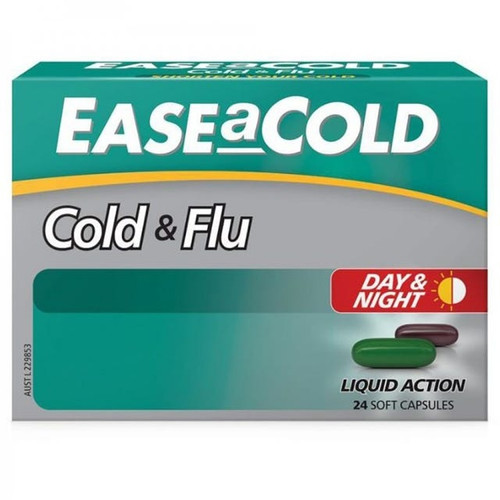 Ease-a-Cold Cold and Flu Day and Night 24 capsules