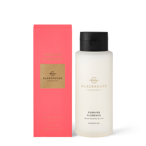 Glasshouse Fragrances Forever Florence Shower Gel Wild Peonies & Lily 400ml
