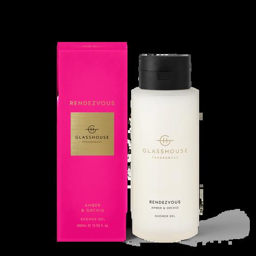Glasshouse Fragrances Rendezvous Shower Gel Amber & Orchid 400ml