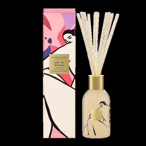 Glasshouse Fragrances Ode To Women Diffuser Cashmere & Wild Lavender 250ml