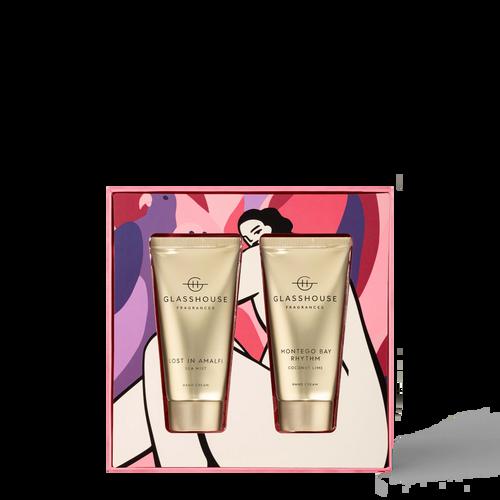 Glasshouse Fragrances Lost In Amalfi & Montego Bay Rhythm Hand Cream Duo Gift Set