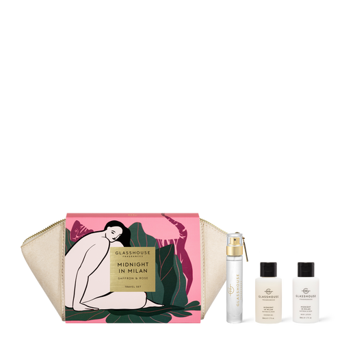 Glasshouse Fragrances Midnight In Milan Saffron & Rose Travel Set