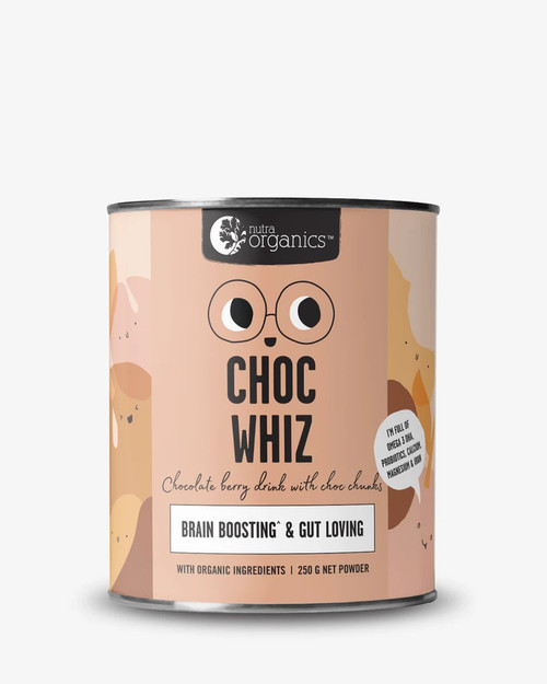 Nutra Organics Superfoods For Kids Choc Wiz 250g