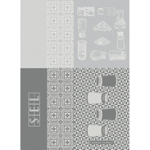 Domaine Lumiere Garnier-Thiebaut Salieres Blanc Tea Towel