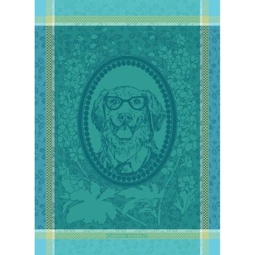 Domaine Lumiere Garnier-Thiebaut Monsieur Chien Bleu Tea Towel