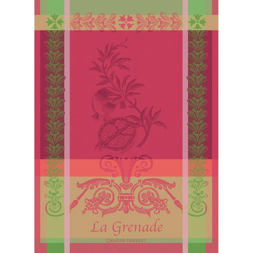 Domaine Lumiere Garnier-Thiebaut Grenade Rose Tea Towel