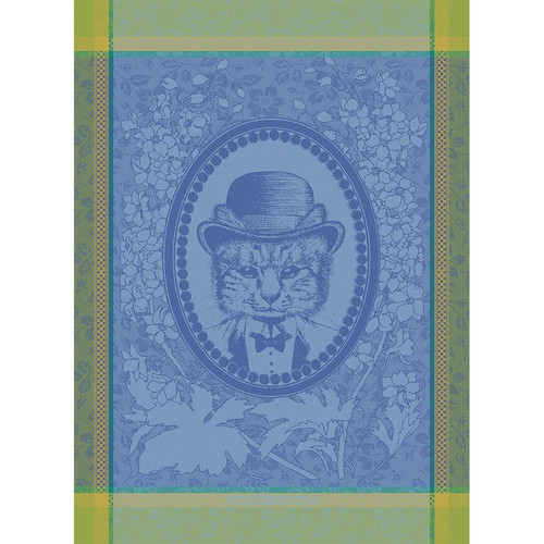 Domaine Lumiere Garnier-Thiebaut Monsieur Chat Bleu Tea Towel