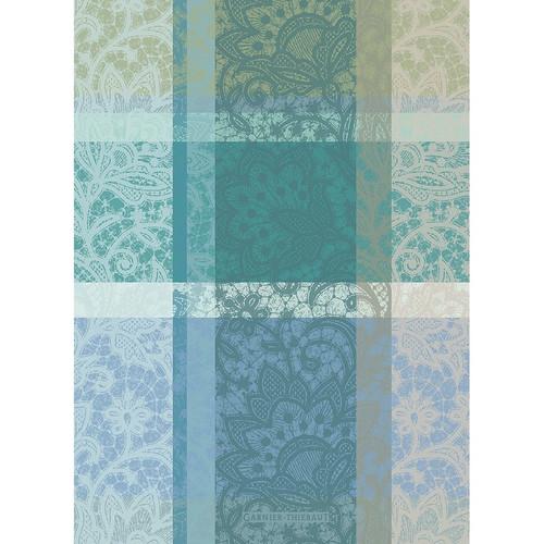 Domaine Lumiere Garnier-Thiebaut Mille Dentelle Turquoise Tea Towel