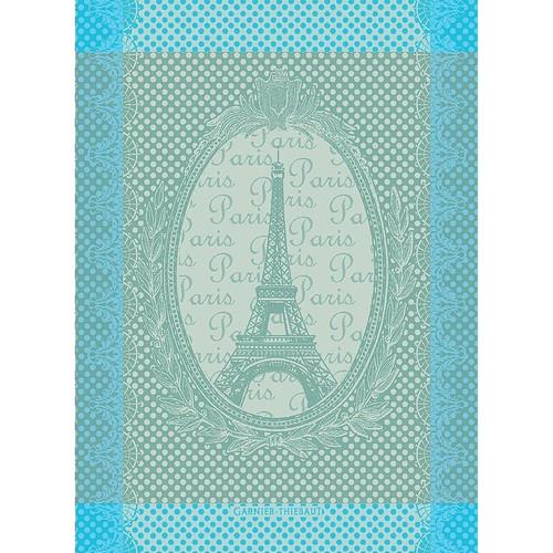 Domaine Lumiere Garnier-Thiebaut Eiffel Vintage Celadon Tea Towel