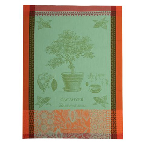 Domaine Lumiere Garnier-Thiebaut Cacaoyer En Pot Vert Tea Towel