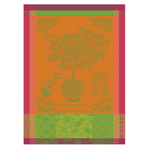 Domaine Lumiere Garnier-Thiebaut Mandarinier Pot Orange Tea Towel