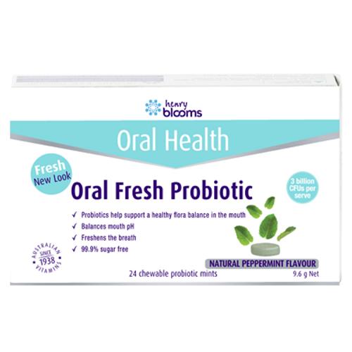 Henry Blooms Oral Fresh Probiotic Mints 24 Chewable Mints