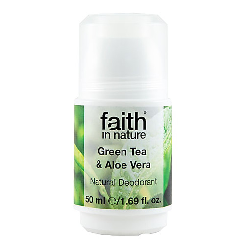 Faith In Nature Roll-on Deodorant Green Tea & Aloe Vera 50g