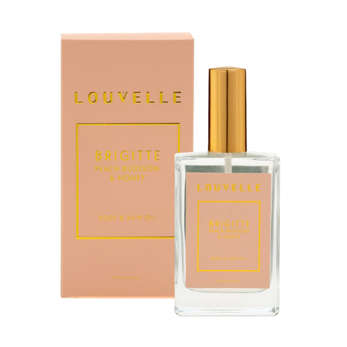 Louvelle Brigitte Peach Blossom & Honey Hair & Body Oil 100ml